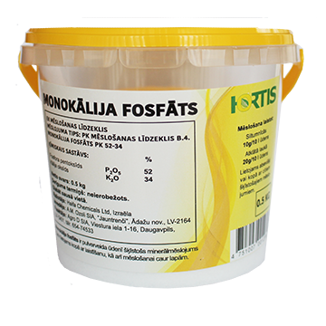 Hortis Monokālija fosfāts 0.5kg
