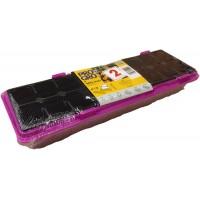 Diedzēšanas kasete 47x16cm + 18 podiņi(rozā) ar pārsegu (2gab)